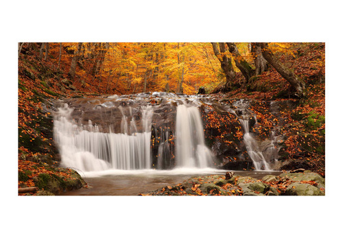 Fototapet XXL - Autumn landscape: waterfall in forest