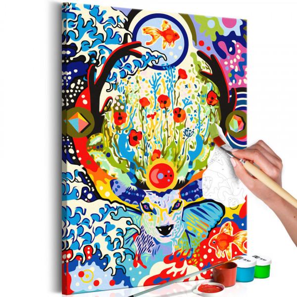 Pictatul pentru recreere - Deer and Flowers