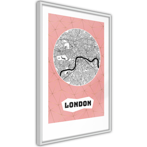 Poster - City map: London (Pink)