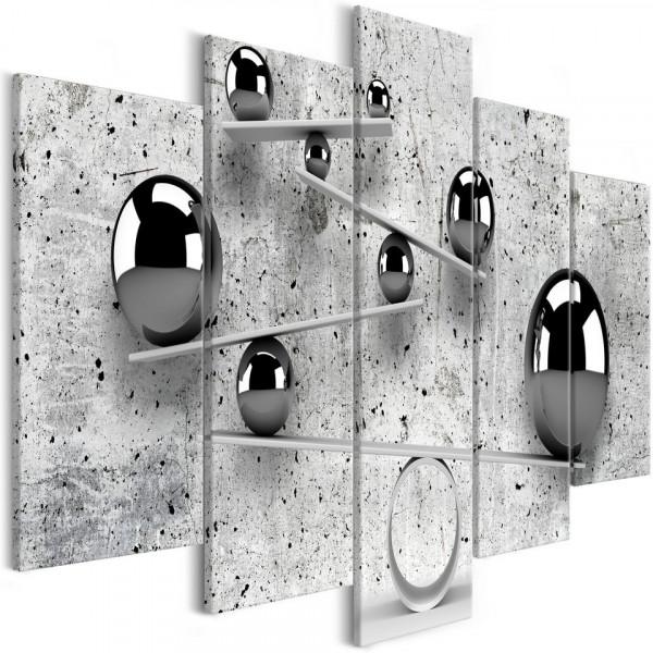 Tablou - Balls and Concrete (5 Parts) Wide