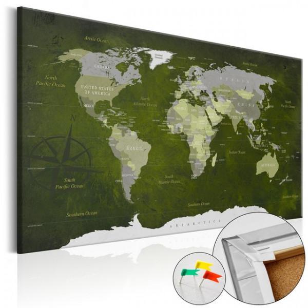 Tablou din plută - Malachite World [Cork Map]
