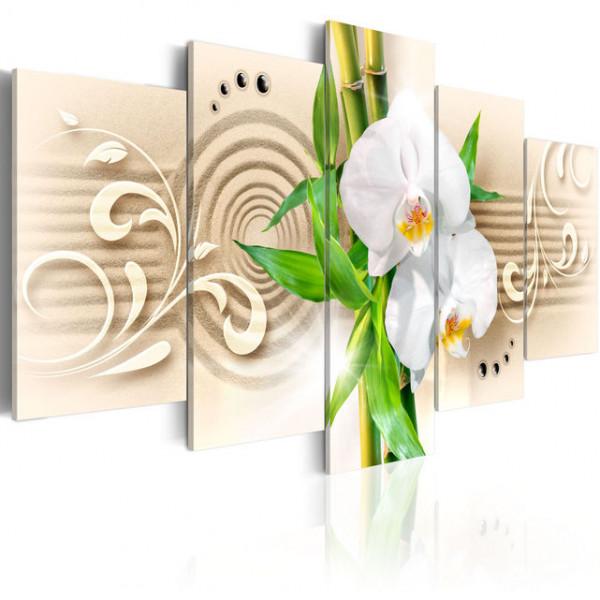 Tablou - Orchids, babmbus and zen