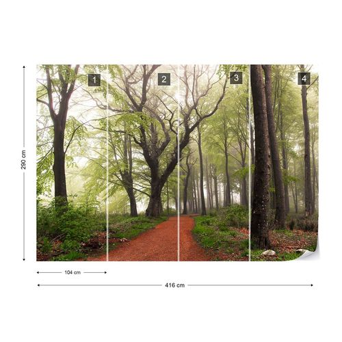 Follow The Red Path Photo Wallpaper Mural
