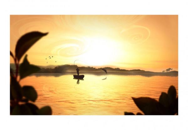 Fototapet - Blissful fishing