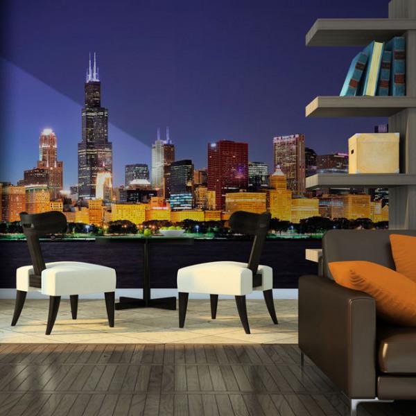 Fototapet - Chicago nightlife