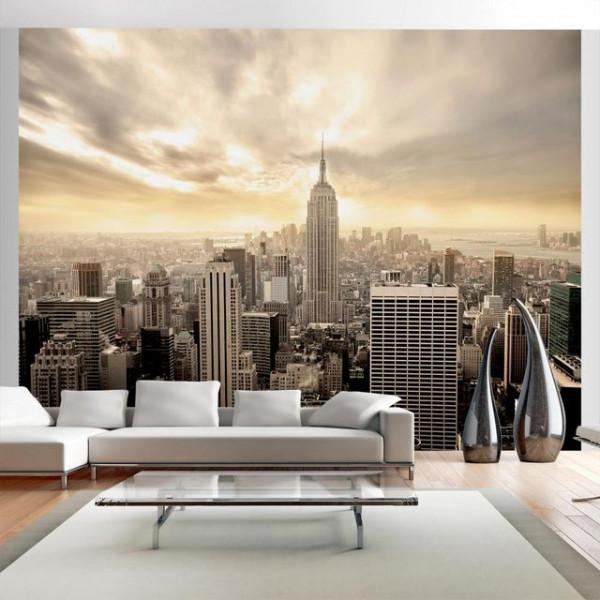Fototapet - New York - Manhattan at dawn