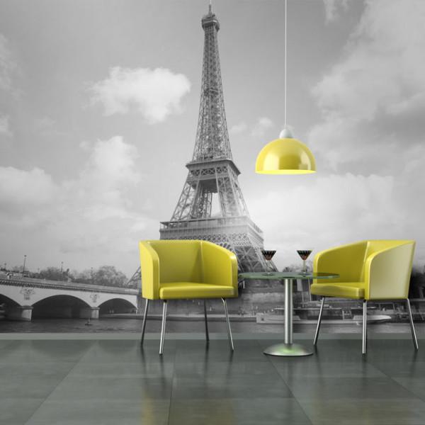 Fototapet - Seine and Eiffel Tower