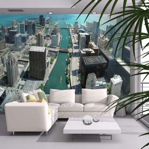 Fototapet - Urban architecture of Chicago
