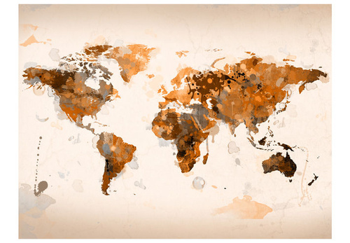 Poze Fototapet - World in brown shades