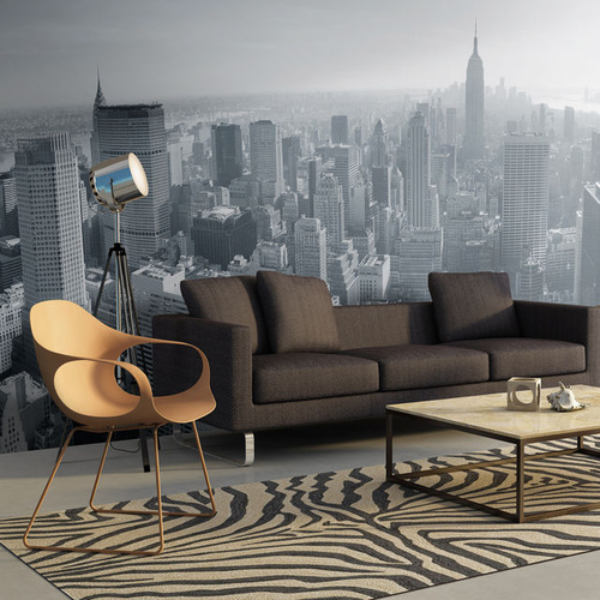 Fototapet XXL - New York City skyline in black and white