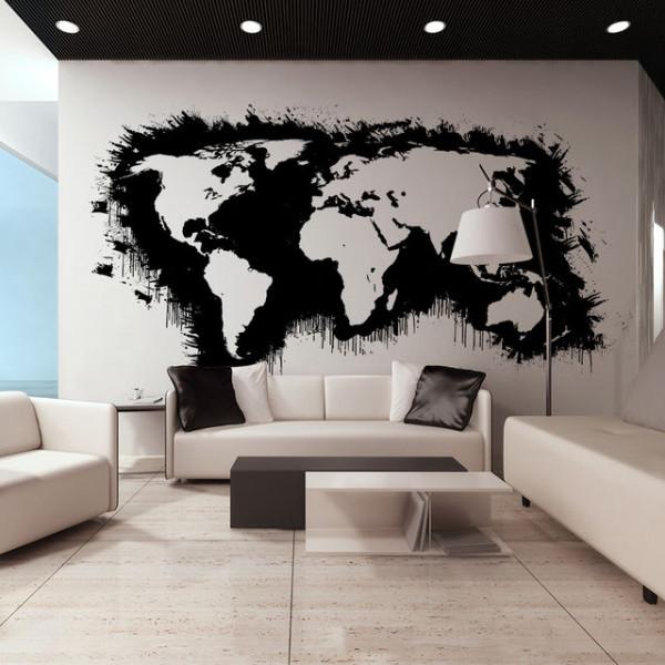Fototapet XXL - White continents, black oceans...