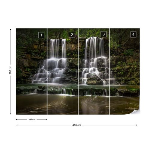 Jungle Waterfalls Photo Wallpaper Mural