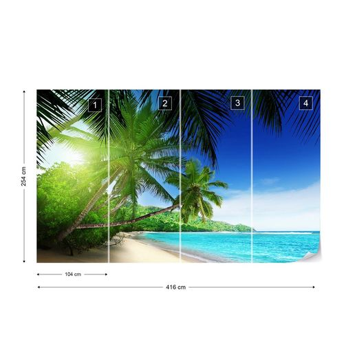 Paradise Tropical Beach Sea Sand Photo Wallpaper Wall Mural