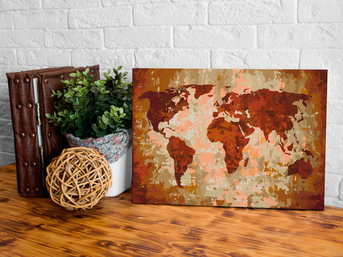 Pictatul pentru recreere - World Map (Earth Colours)