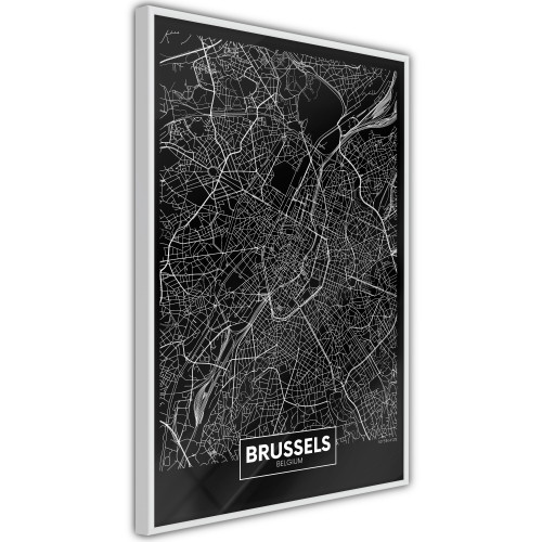 Poster - City Map: Brussels (Dark)