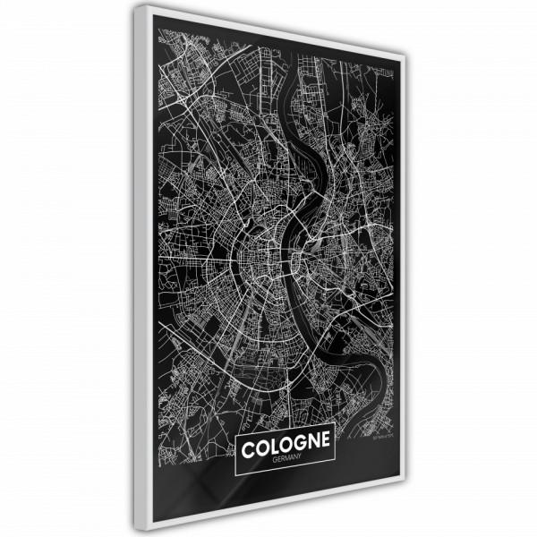 Poster - City Map: Cologne (Dark)