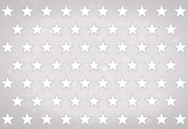 Stars Pattern Light Grey Photo Wallpaper Wall Mural