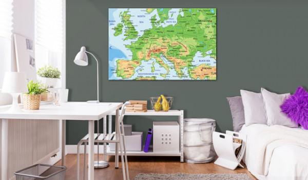 Tablou din plută - Europe [Cork Map]