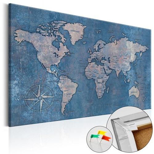 Tablou din plută - Sapphire Planet [Cork Map]
