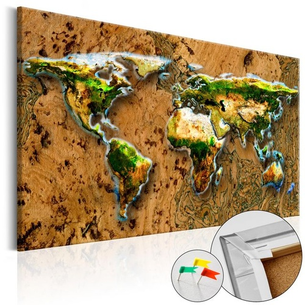 Tablou din plută - World Jungle [Cork Map]