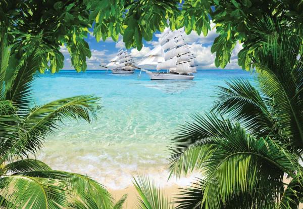 Tropical Beach Paradise Island Photo Wallpaper Wall Mural