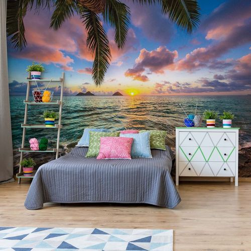 Tropical Sea At Sunset Photo Wallpaper Wall Mural