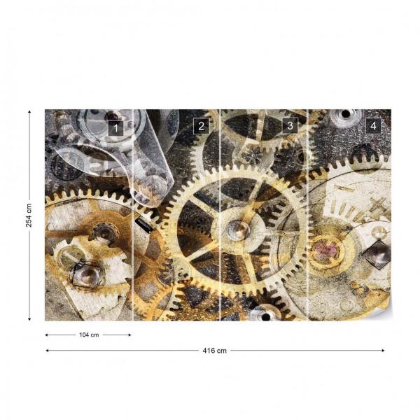 Watch Mechanism Time Photo Wallpaper Wall Mural