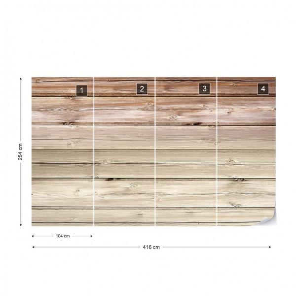 Wood Plank Texture Light Brown Photo Wallpaper Wall Mural