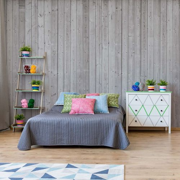 Wood Planks Grey Photo Wallpaper Wall Mural