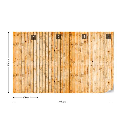 Wooden Planks Texture Photo Wallpaper Wall Mural