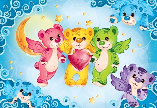 Care Bears Heart Photo Wallpaper Wall Mural