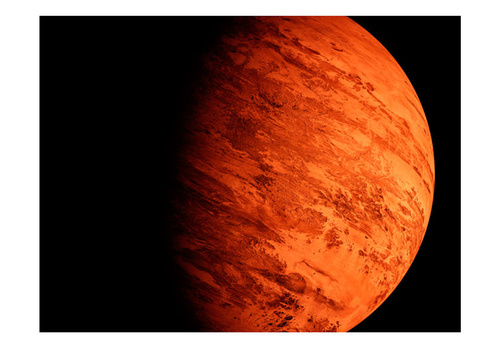 Fototapet - A planet´s dark and bright sight