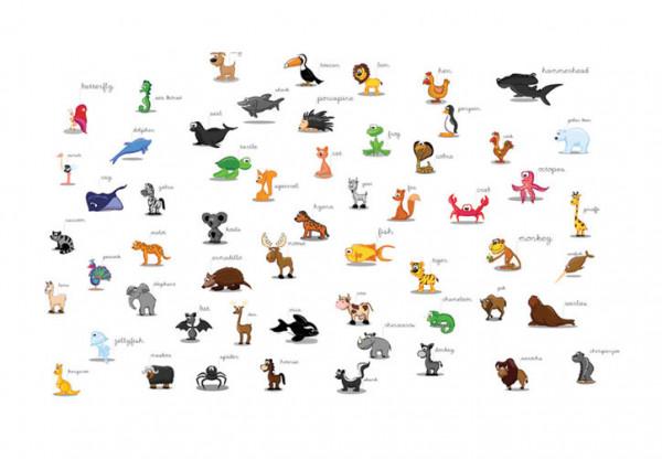 Fototapet - animals (for children)
