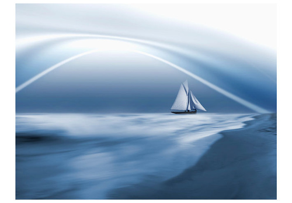 Fototapet - Lonely sail drifting