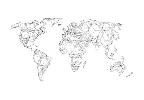Poze Fototapet - Map of the World - white solids