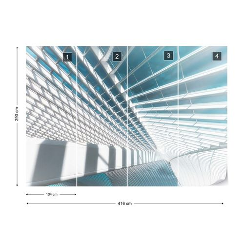 Icy Light Photo Wallpaper Mural