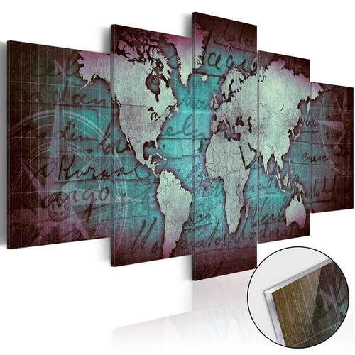Poze Imagine pe sticlă acrilică - Acrylic prints – Bronze map II