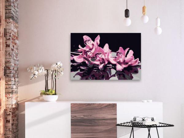Pictatul pentru recreere - Pink Orchid (Black Background)