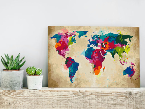 Poze Pictatul pentru recreere - World Map (Colourful)