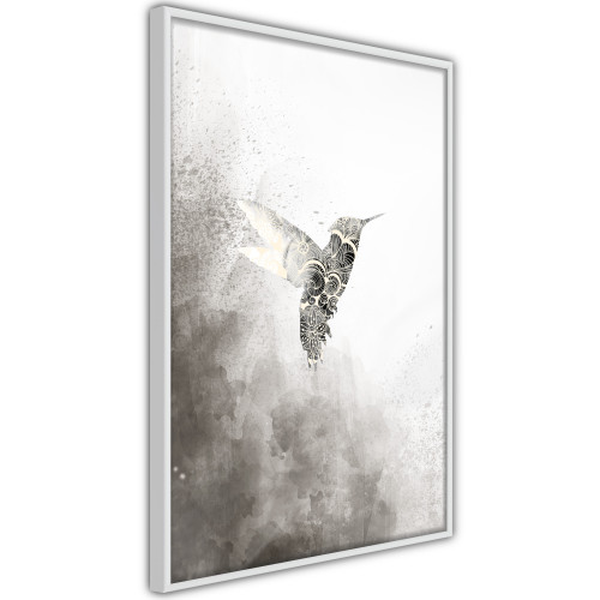 Poster - Hummingbird in Shades of Grey