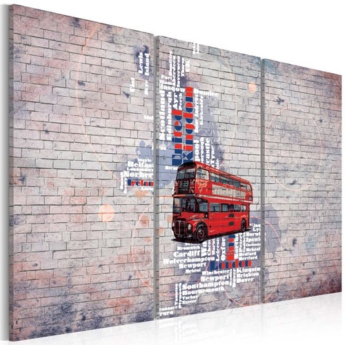 Poze Tablou - Around the Great Britain by Routemaster - triptych