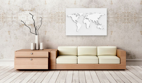 Tablou din plută - Monochromatic World [Cork Map]