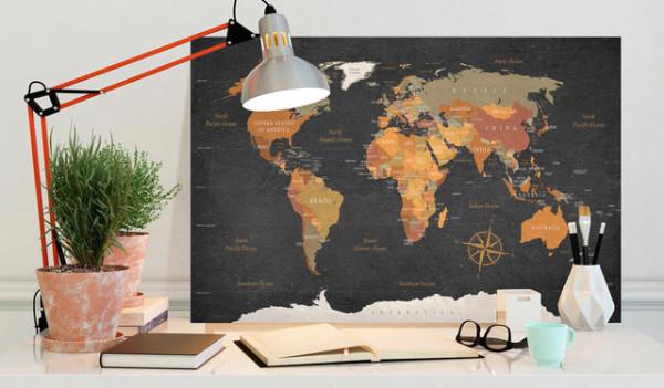 Tablou din plută - Secrets of the Earth [Cork Map]
