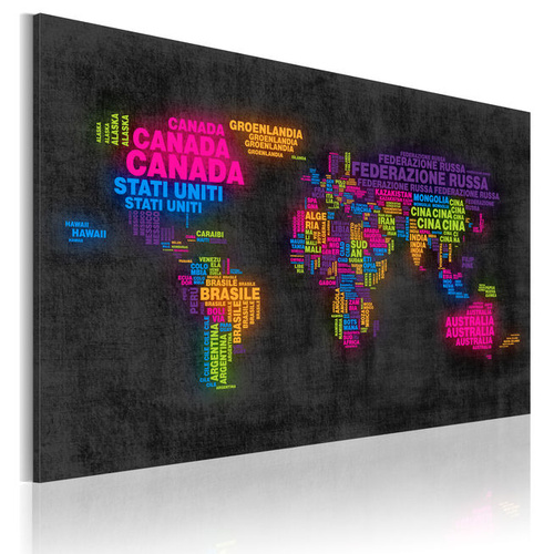 Tablou - The map of the World - Italian names of countries