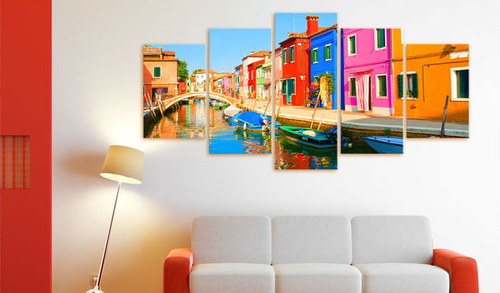 Tablou - Waterfront in rainbow colors