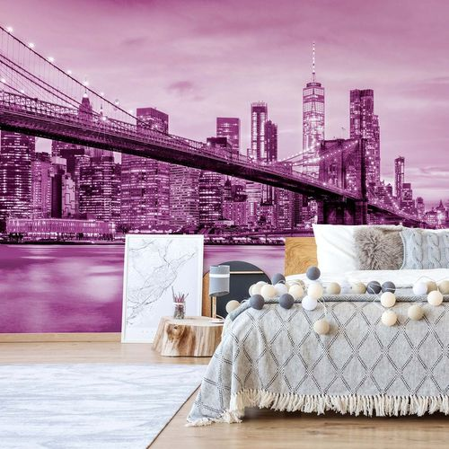 Brooklyn Bridge NYC in Pink
