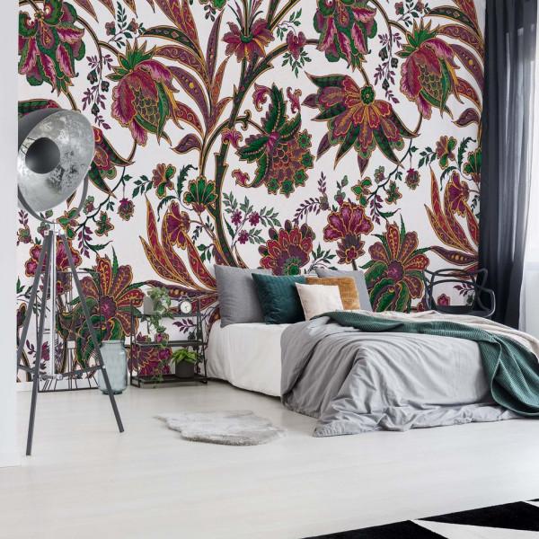 Flowers Plants Vintage Pattern Photo Wallpaper Wall Mural