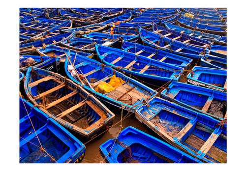 Poze Fototapet - Blue fishing boats