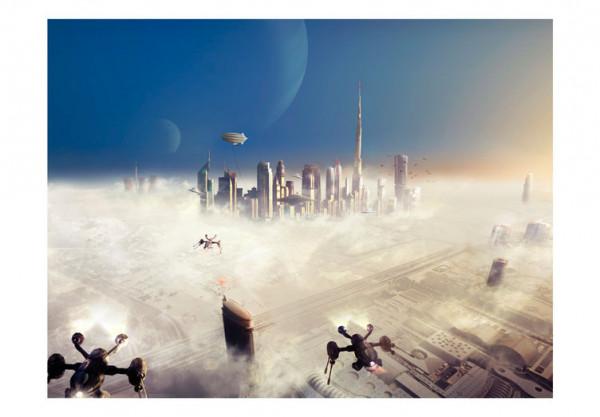 Fototapet - City in the sky
