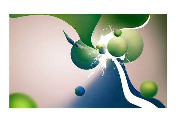 Fototapet - Geometric explosion
